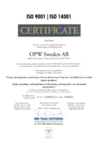 ISO 9001:2015    ISO 14001:2015 Certificate