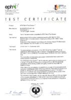 IEC 60079-0:2004, EN13463-1:2002, TR 50404:2003 Certification