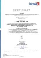KIWA Certificate