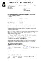 Certificate of Compliance  EN 14125:2013  RISE